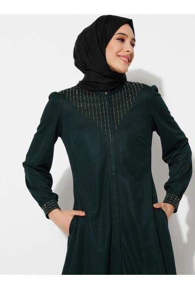 Ayşe Melek Tasarım Kadın Taşlı Ferace
