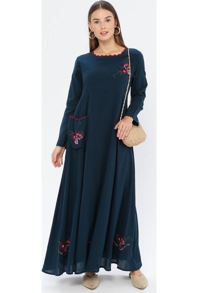 Elis Şile Bezi Kadın Şile Bezi Nakışlı Elbise