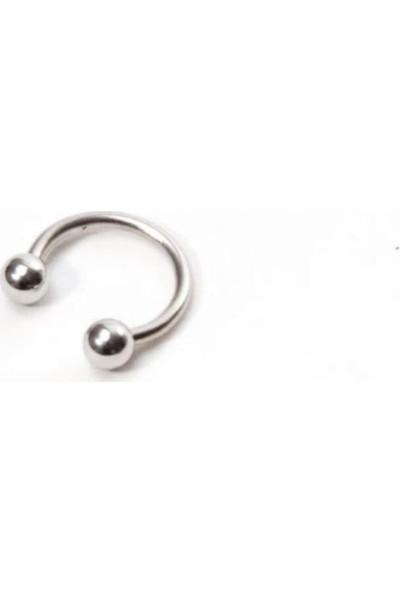Takıparkxs 316L Cerrahi Çelik 10 mm Top Uçlu Septum Piercing