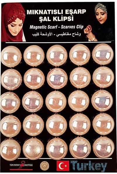 Cachmira 25'li Beyaz Eşarp & Şal Mıknatısı