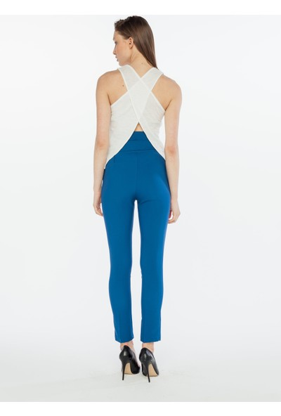 Yellowish Kadın Sırtı Çapraz Dekolte Detaylı Bluz