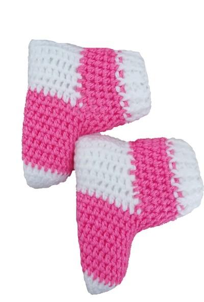 Nuh Home Çorap Pembe -Beyaz Renkli