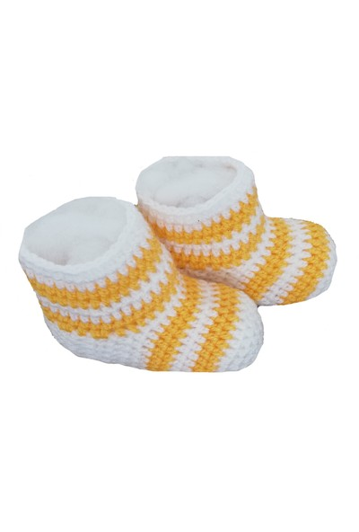Nuh Home Çorap Sarı -Beyaz Renkli