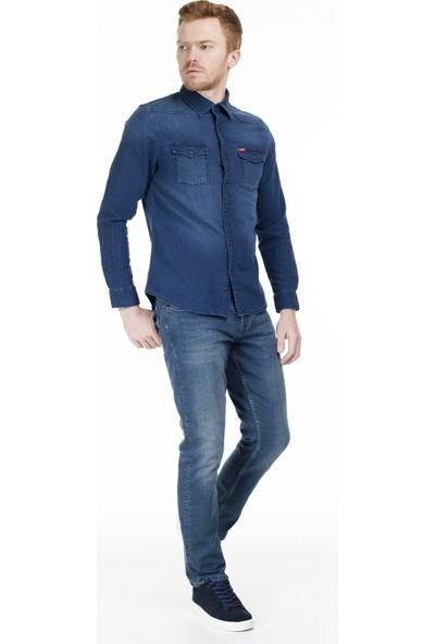 Lee Cooper Cepli Kot Gömlek Erkek Kot Gömlek 202 Lcm 141003 2199 L