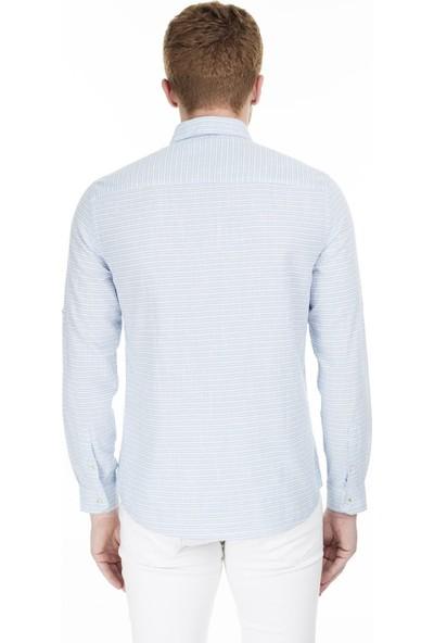 Lee Cooper Erkek Çizgili Düğmeli Yaka Gömlek 202 Lcm 241009 2160 S