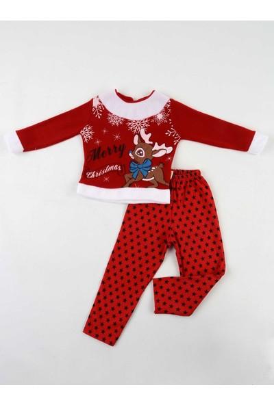 Efran Bebe Kırmızı Noel Kız Çocuk Takım