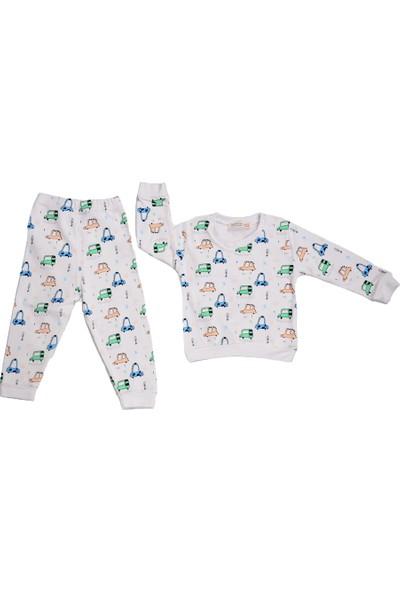 Isobel Minik Arabalar Pijama Takımı Beyaz 18 - 24 Ay
