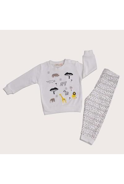 Isobel Orman Hayvanları Pijama Takımı Beyaz 24 - 36 Ay