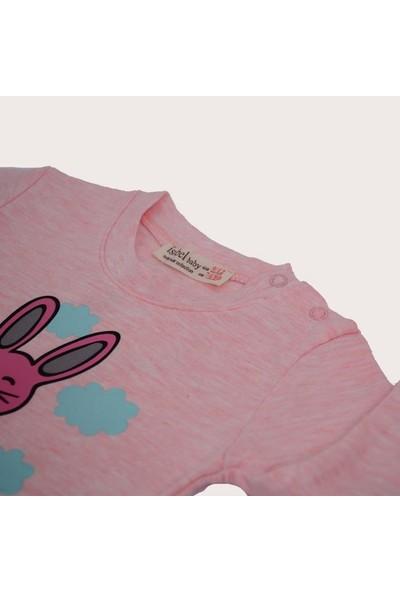 Isobel Tavşan Desenli Bebek Pijama Takımı Pembe 18 - 24 Ay