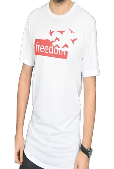 DGA Freedom Baskılı Beyaz T-Shirt