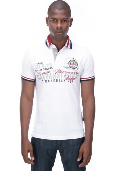 Galvanni Erkek Beyaz Polo T-Shirt - Alıc