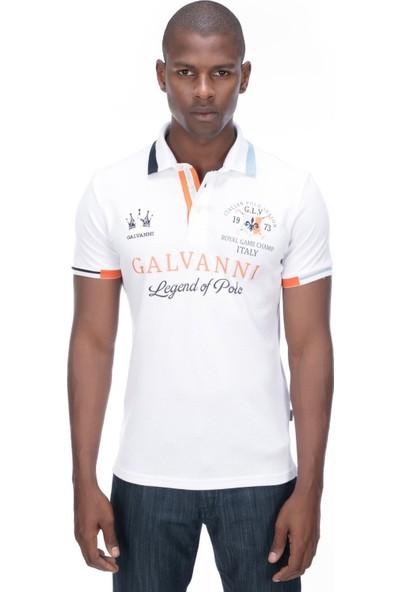 Galvanni Erkek Beyaz Polo T-Shirt - Rıode