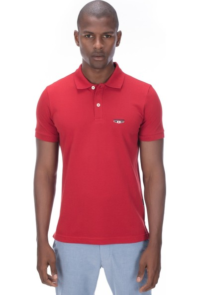 Galvanni Erkek Kırmızı Polo T-Shirt - Logs