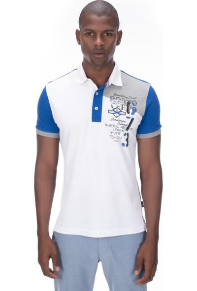 Galvanni Erkek Mavi Polo T-Shirt - Roc