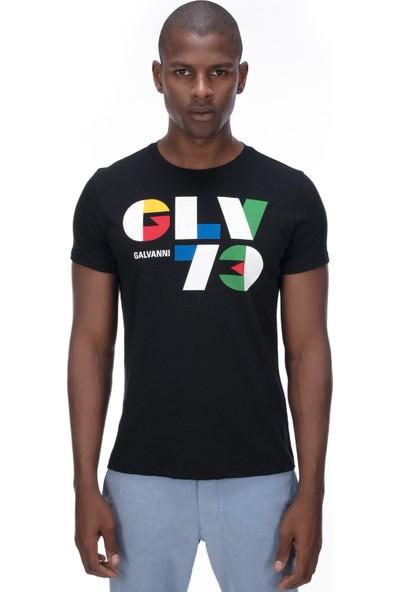 Galvanni Erkek Siyah T-Shirt - Alegre