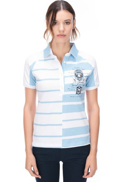 Galvanni Kadın Beyaz Polo T-Shirt - Kost