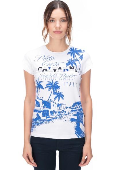 Galvanni Kadın Beyaz T-Shirt - Curı