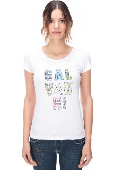 Galvanni Kadın Beyaz T-Shirt - Dımıtro