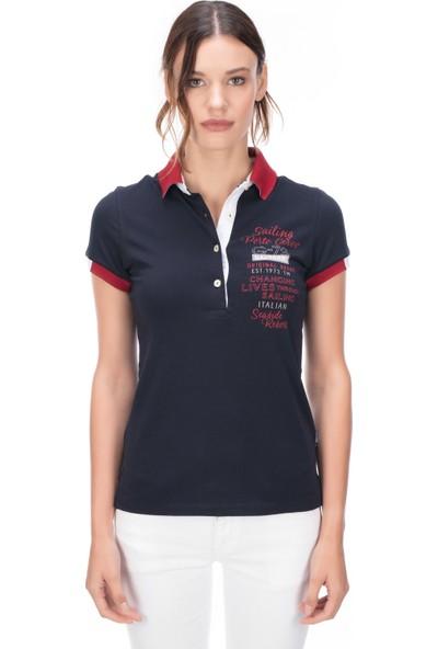 Galvanni Kadın Lacivert Polo T-Shirt - Forto