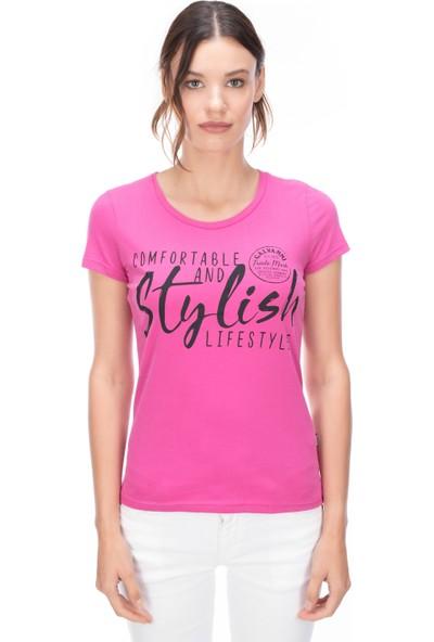 Galvanni Kadın Pembe T-Shirt - Rayon