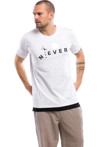 Kevin Erkek T10 Beyaz Tişört