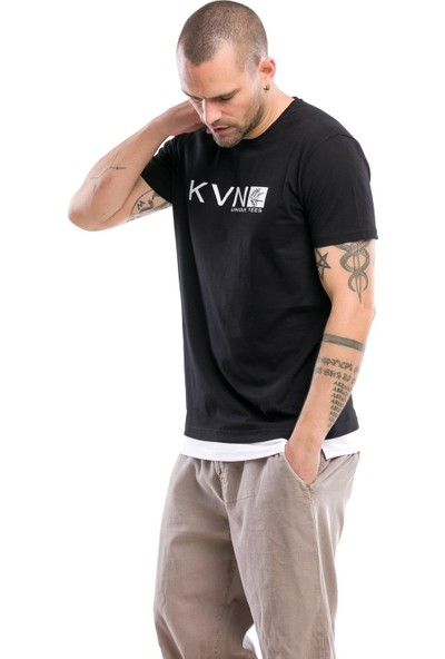 Kevin Erkek T9 Siyah Tişört