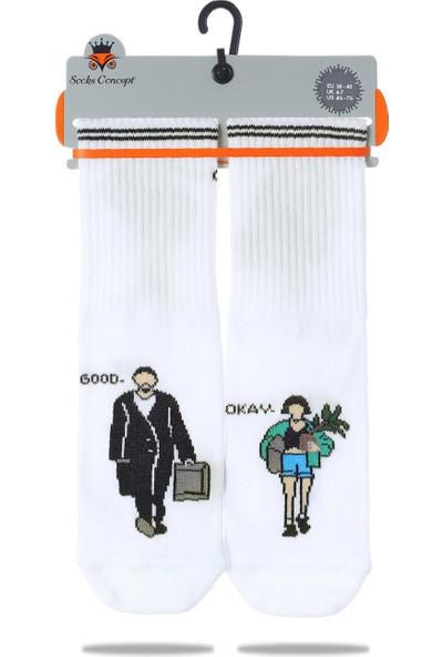 Socks Concept Leon ve Mathilda Çorabı Beyaz Renk