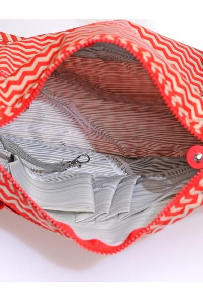Smart Bags SMB1128-0134 Kırmızı/bej Kadın Çapraz Çanta