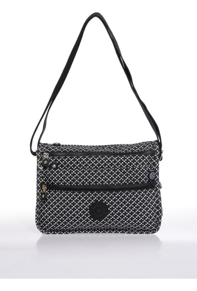 Smart Bags SMB1128-0127 Siyah/beyaz Kadın Çapraz Çanta