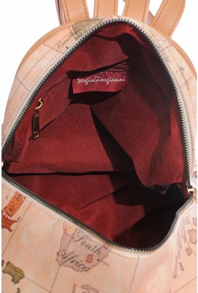 Sergio Giorgianni Luxury SG1584 Açık/kahve Kadın Sırt Çantası