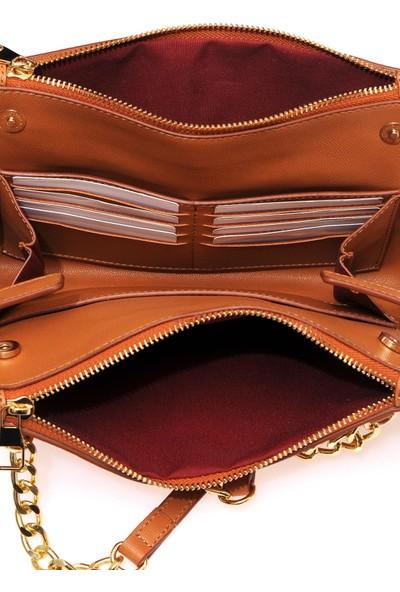 Sergio Giorgianni Luxury SG01802-10 Taba Kadın Omuz Çantası