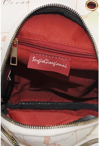 Sergio Giorgianni Luxury SG2112 Bej Kadın Sırt Çantası