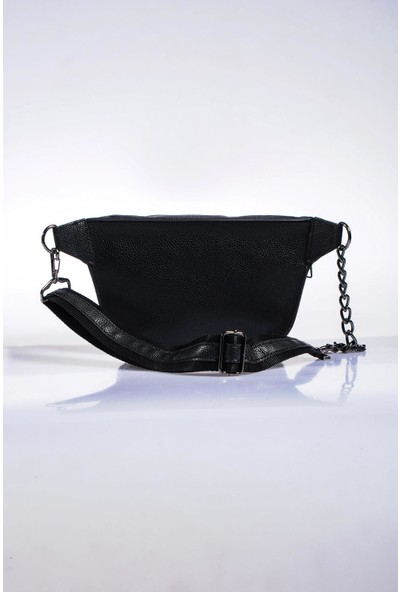 Sergio Giorgianni Luxury SG662 Natural Siyah Kadın Bel Çantası