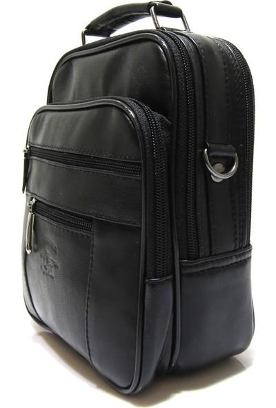 Brs Bags Erkek Deri Omuz ve El Çantası Siyah ( Orta Boy )