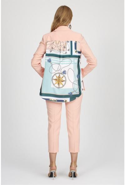 Setre Somon Bel Kemik Düğmeli Cepli Bilek Boy Boru Paça Kumaş Günlük Pantolon