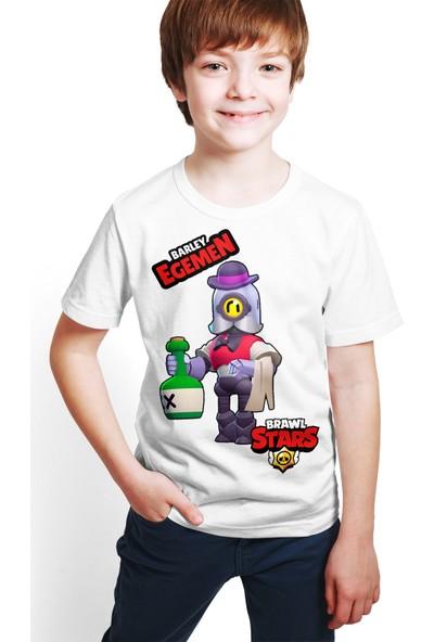 Brawl Stars - Barley - Dijital Baskılı Beyaz Kişiye Özel T-Shirt E-03