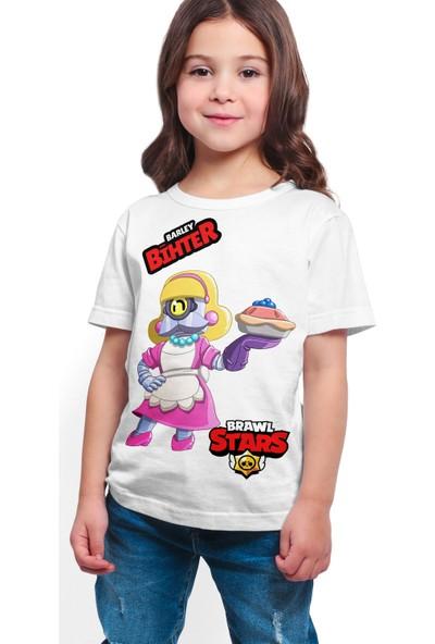 Brawl Stars - Barley - Dijital Baskılı Beyaz Kişiye Özel T-Shirt K-01
