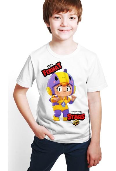 Brawl Stars - Bea - Dijital Baskılı Beyaz Kişiye Özel T-Shirt E-01