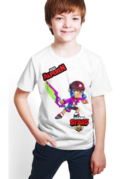 Brawl Stars - Bibi - Dijital Baskılı Beyaz Kişiye Özel T-Shirt E-03