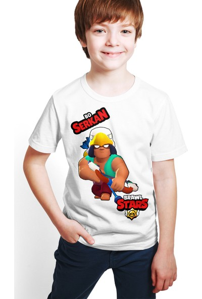 Brawl Stars - Bo - Dijital Baskılı Beyaz Kişiye Özel T-Shirt E-01