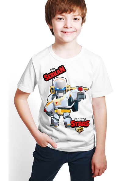 Brawl Stars - Bo - Dijital Baskılı Beyaz Kişiye Özel T-Shirt E-03