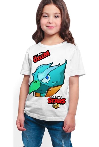 Brawl Stars - Crow - Dijital Baskılı Beyaz Kişiye Özel T-Shirt K-06