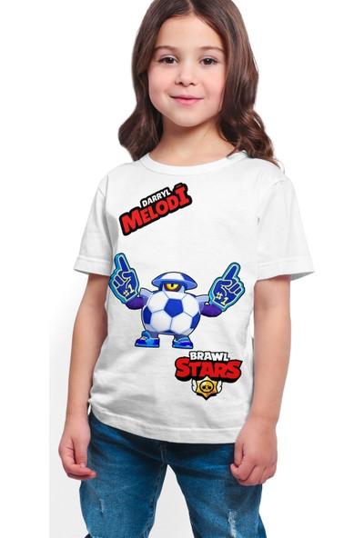 Brawl Stars - Darryl - Dijital Baskılı Beyaz Kişiye Özel T-Shirt K-03