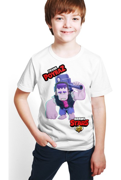 Brawl Stars - Frank - Dijital Baskılı Beyaz Kişiye Özel T-Shirt E-01