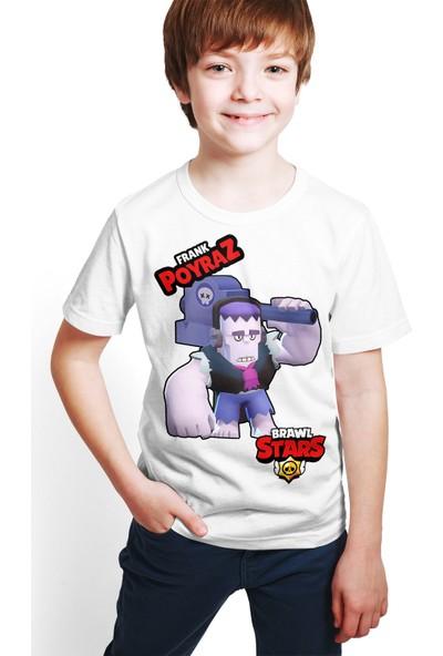 Brawl Stars - Frank - Dijital Baskılı Beyaz Kişiye Özel T-Shirt E-03