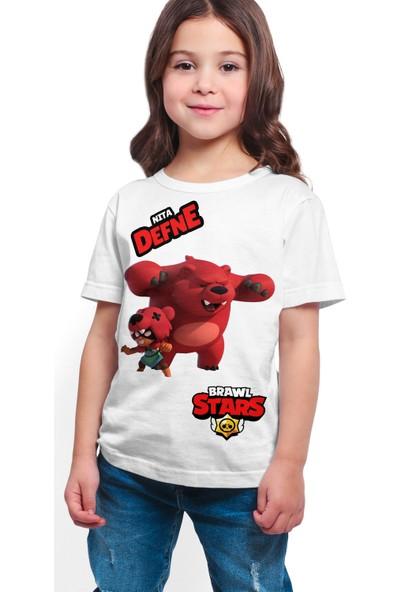 Brawl Stars - Nita - Dijital Baskılı Beyaz Kişiye Özel T-Shirt K-01
