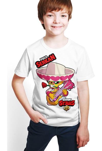 Brawl Stars - Poco - Dijital Baskılı Beyaz Kişiye Özel T-Shirt E-06