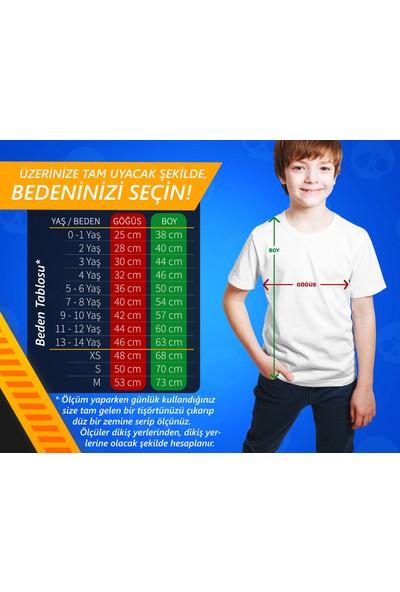 Brawl Stars - Shelly - Dijital Baskılı Beyaz Kişiye Özel T-Shirt K-06