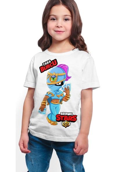 Brawl Stars - Tara - Dijital Baskılı Beyaz Kişiye Özel T-Shirt K-01