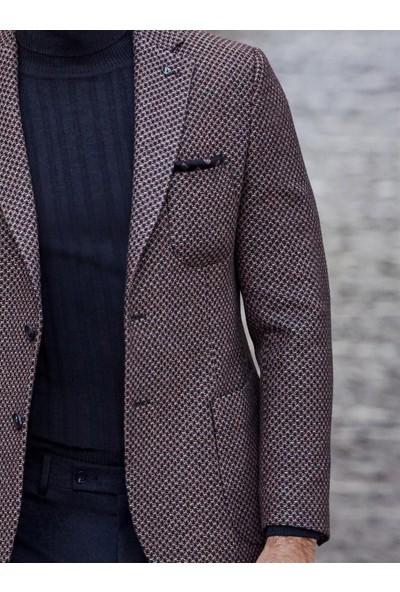 Dufy Bakır Armür Erkek Ceket - Galvin-Sn Slimfit